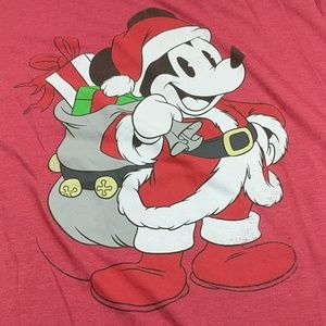 Disney Shirts - Santa Claus Mickey Mouse Disney T-shirt Size 2XL